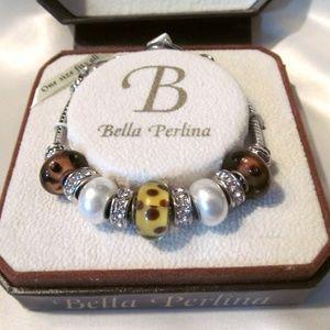 NWT Bella Perlina Glass Bead Bracelet